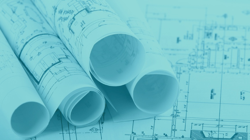 ArjoHuntleigh-project-design-team-new-builds-drawing-blue-print